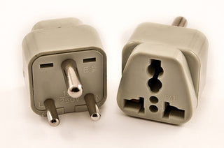 Universal Grounded Travel Plug Adapter For India, Nepal (Type D) - Popularelectronics.com
