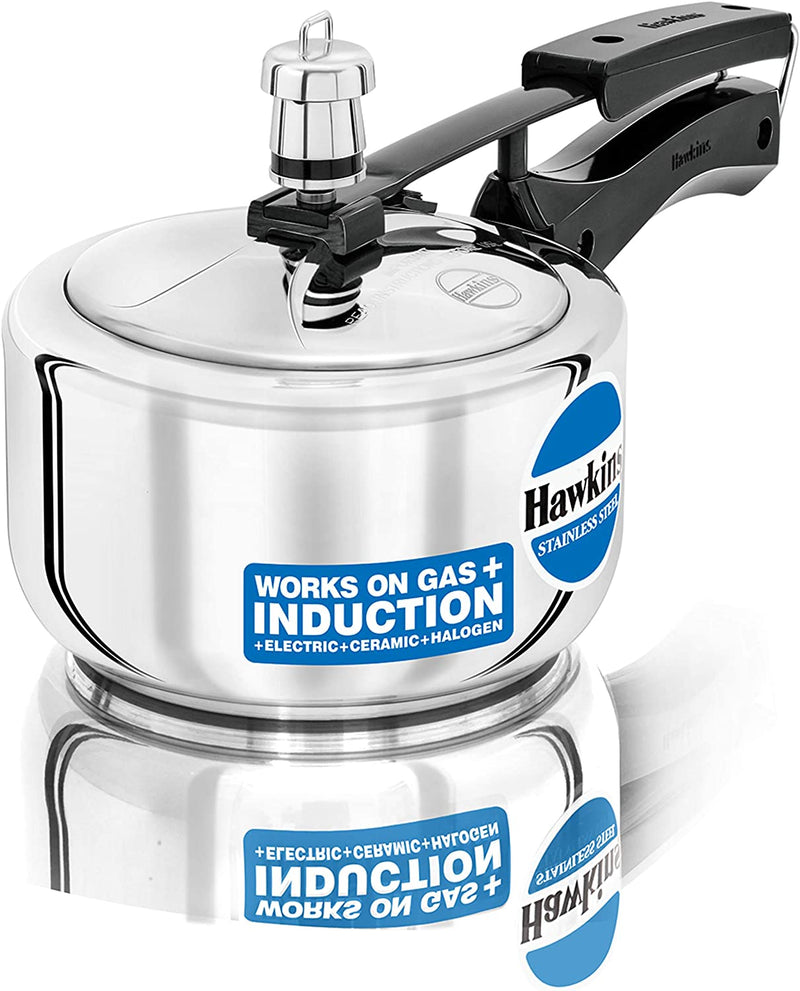 Hawkins Stainless Steel Pressure Cooker (Gas + Induction + Electric)