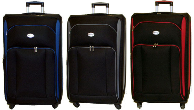 UpRight Polyester Spinner Expandable Luggage - 3pc Set - Popularelectronics.com