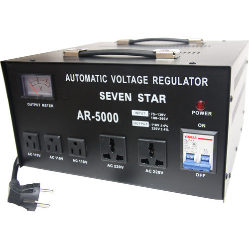 Seven Star AR-5000 5000 Watt Voltage Transformer Converter Regulator - Popularelectronics.com