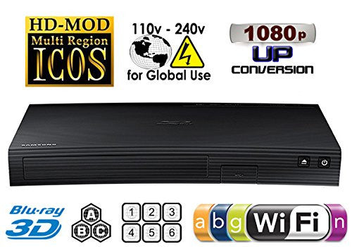 Samsung BD-J5900 Multi Region Free DVD Wi-Fi 3D Blu-Ray Disc Player - Popularelectronics.com