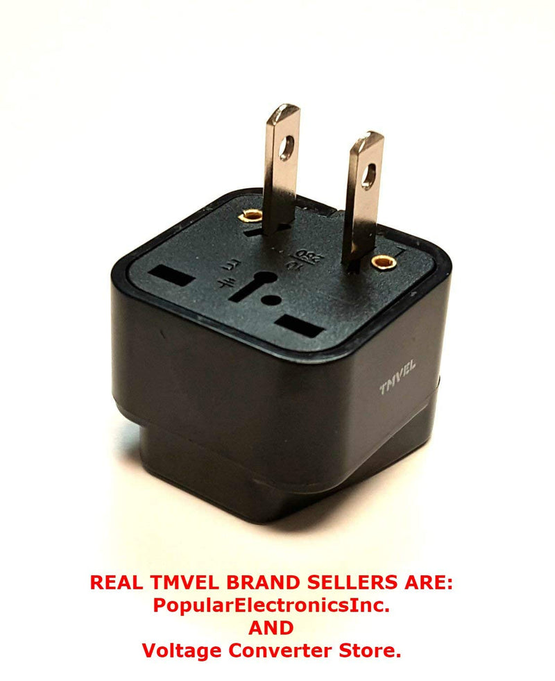 Tmvel Universal International Power Adapter Plug Tip Converter - Convert Europe, EU/UK/CN/AU To USA - Great for Cell Phone Charger - Not Converter
