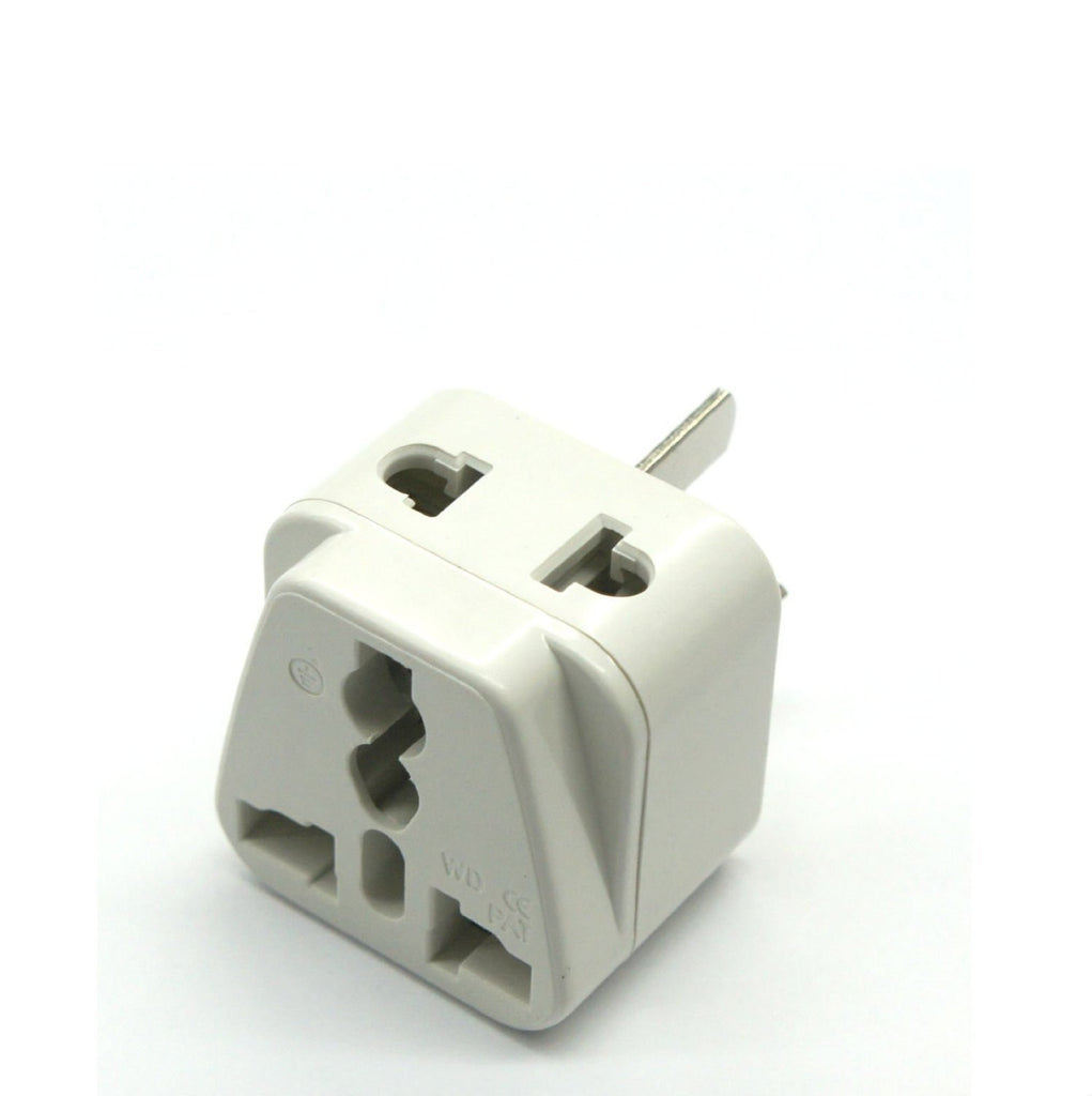 Germany, France, Europe, Russia - Type E/F (Schuko) 2 in 1 - Travel Plug Adapter - Popularelectronics.com