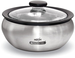 Milton Thermo Stainless Steel Insulated Casserole Keep Hot/Cold Serving Dish - 2.0 Liter