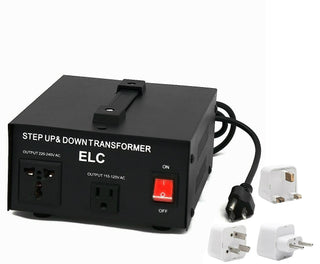 1000 Watt Best International Power Voltage Converter Transformer - Step Up/Down - 110V/220V - With Worldwide UK/US/AU/EU European Plug Adapter - 2 Outlets - Popularelectronics.com