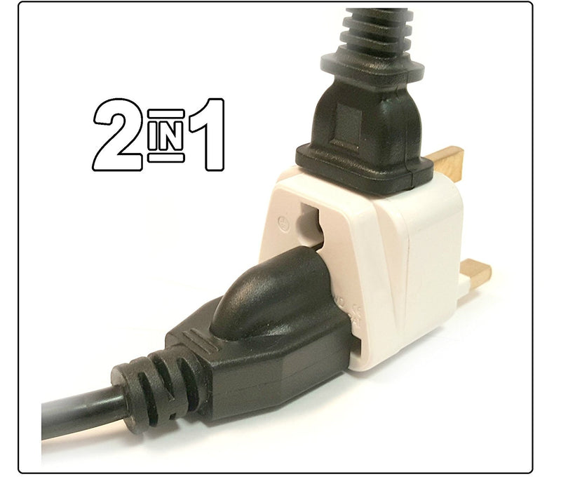 UK, Hong Kong, Singapore, UAE - Type G 2 in 1 - Travel Plug Adapter - Popularelectronics.com