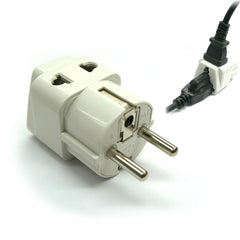 Germany, France, Europe, Russia - Type E/F (Schuko) 2 in 1 - Travel Plug Adapter