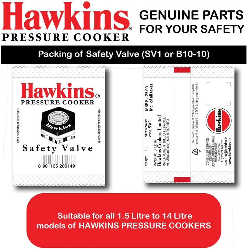Hawkins Pressure Cooker Safety Valve for 1.5 to 14 Litre