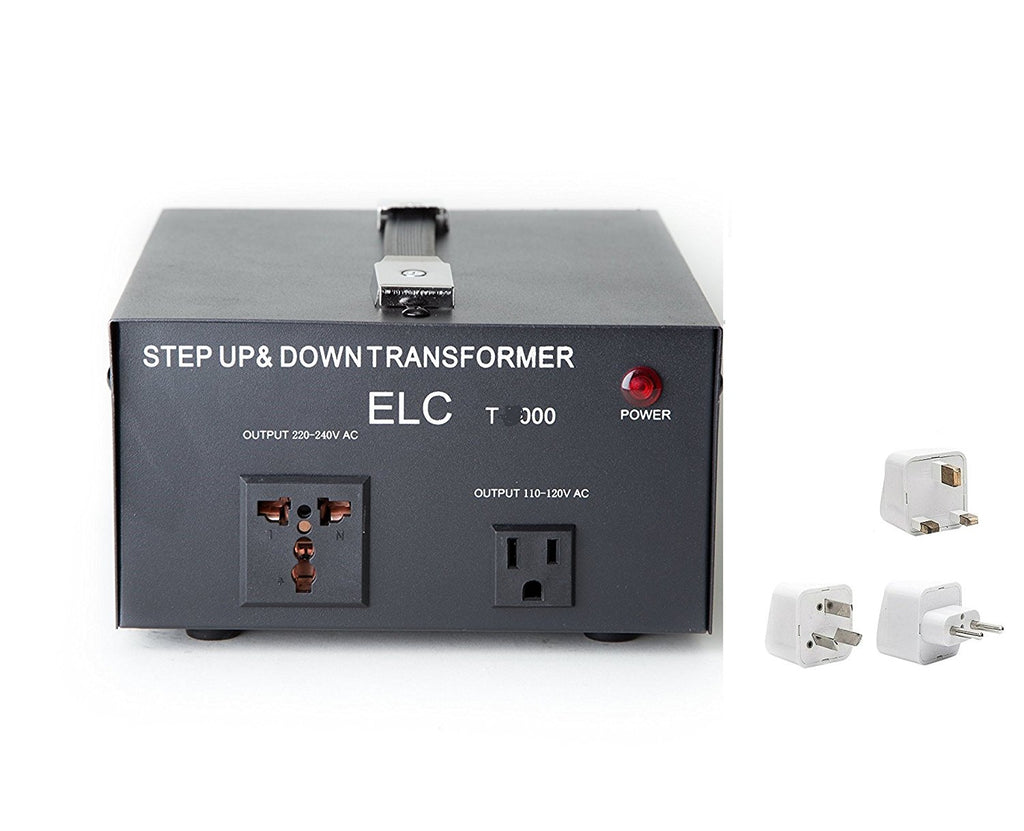 2000 Watt Best International Power Voltage Converter Transformer - Step Up/Down - 110V/220V - With Worldwide UK/US/AU/EU European Plug Adapter - 2 Outlets - Popularelectronics.com