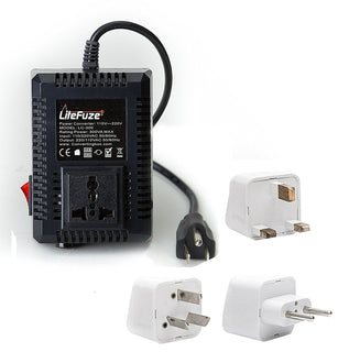 LiteFuze LC300 300W Step Up/Down Travel Voltage Converter With Worldwide UK/US/AU/EU Plugs - Popularelectronics.com