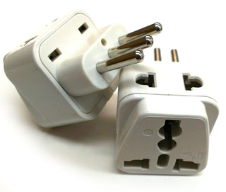 Italy, Chile, Uruguay - Type L 2 in 1 - Travel Plug Adapter - Popularelectronics.com