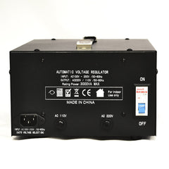 3000 Watt Voltage Regulator Transformer - Detachable Cord - Circuit Breaker