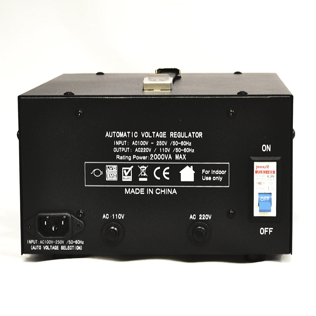 2000 Watt Voltage Regulator Transformer - Detachable Cord - Circuit Breaker - Popularelectronics.com