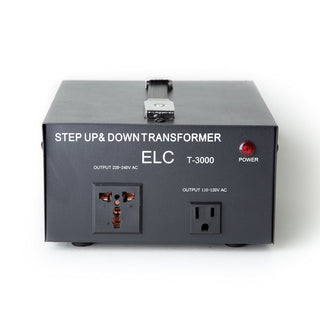 ELC 3000 Watt Voltage Converter Transformer - Dual Circuit Breaker Protection - Popularelectronics.com