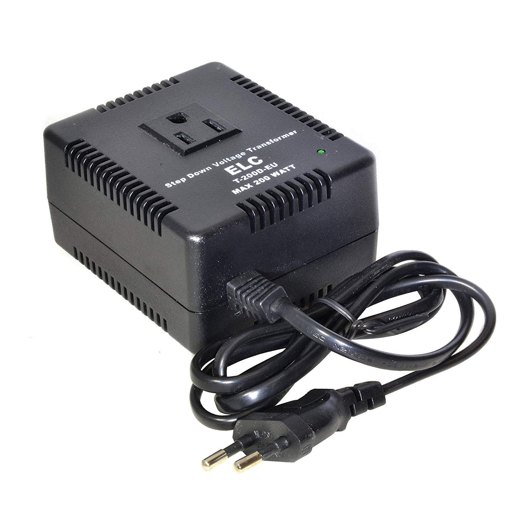 300 Watt Voltage Converter Transformer Heavy Duty Compact - Step Down - 220/240 to 110/120 Volt