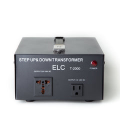 ELC 2000 Watt Voltage Converter Transformer - Dual Circuit Breaker Protection - Popularelectronics.com