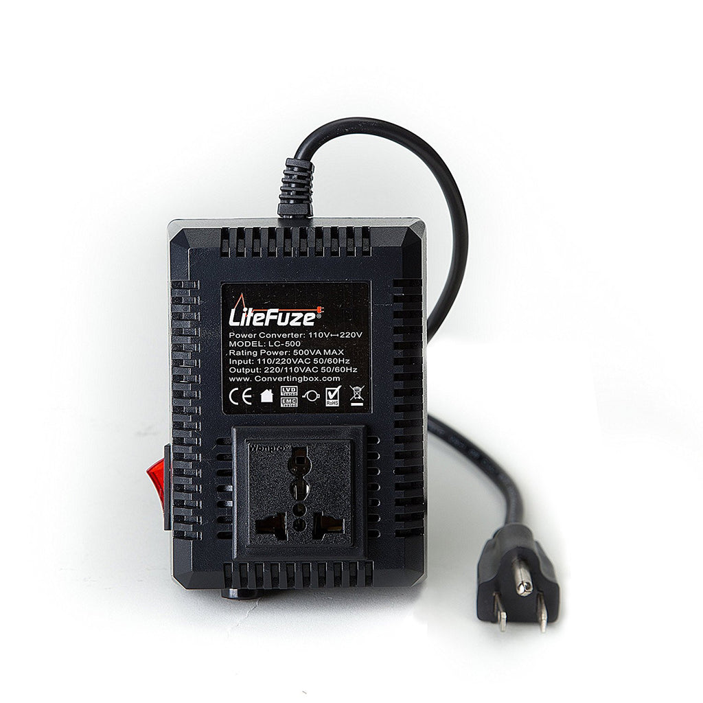 LiteFuze 500 Watts Voltage Converter Transformer Step UP/Down - Popularelectronics.com