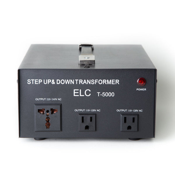 ELC 5000 Watt Voltage Converter Transformer - Dual Circuit Breaker Protection - Popularelectronics.com