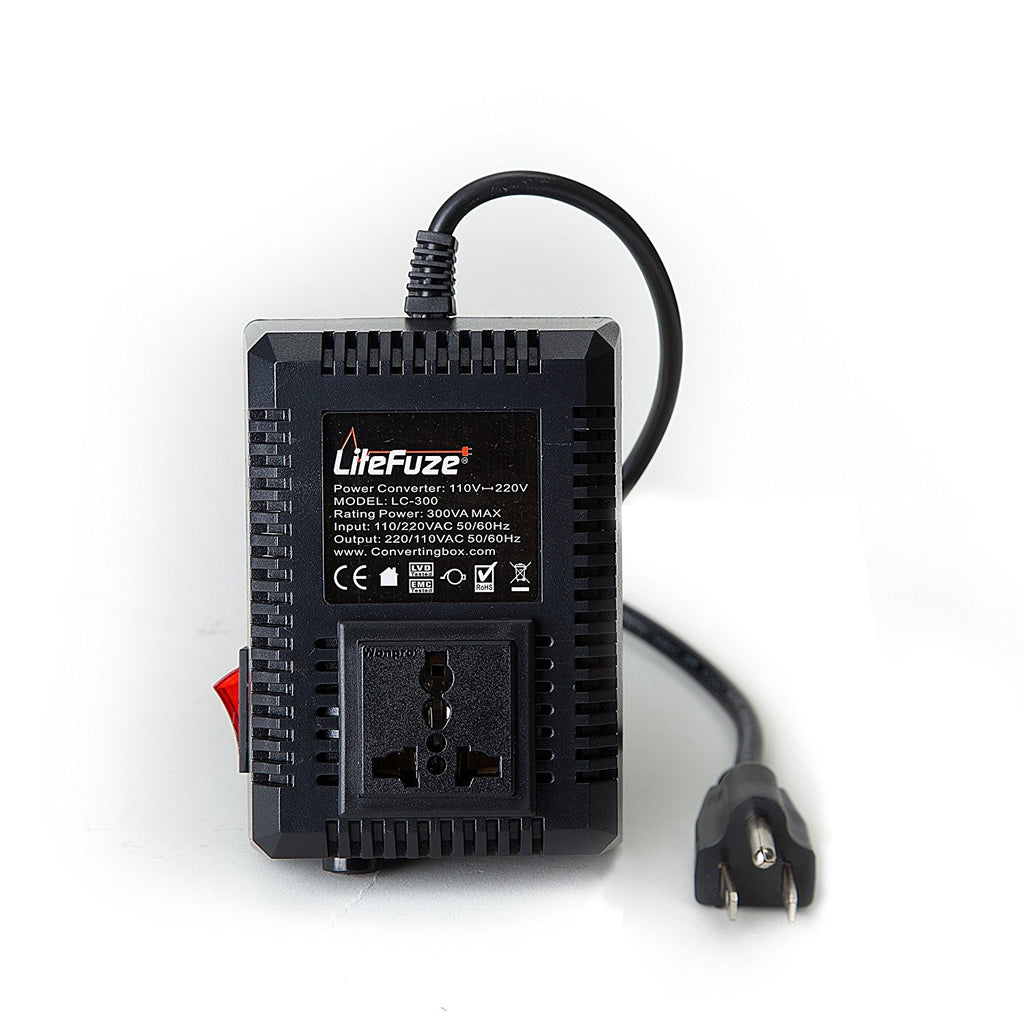 LiteFuze 300 Watts Voltage Converter Transformer Step UP/Down - Popularelectronics.com