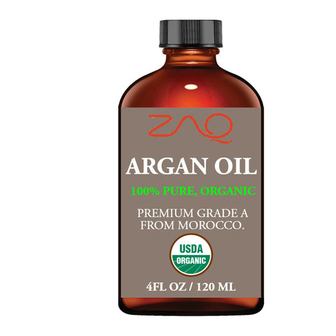 ZAQ 100% Pure Organic Argan Oil, 4 Oz - Morocco