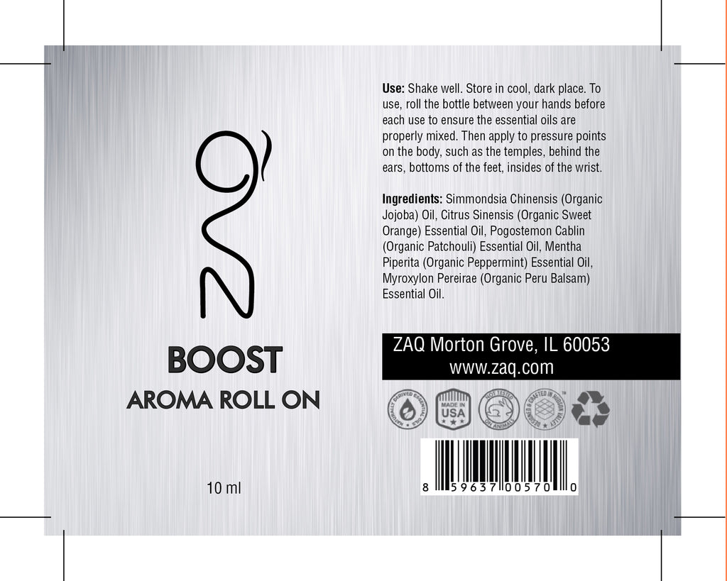 ZAQ Boost Aroma Essential Oil Roll On - Boost your mind and body - Popularelectronics.com
