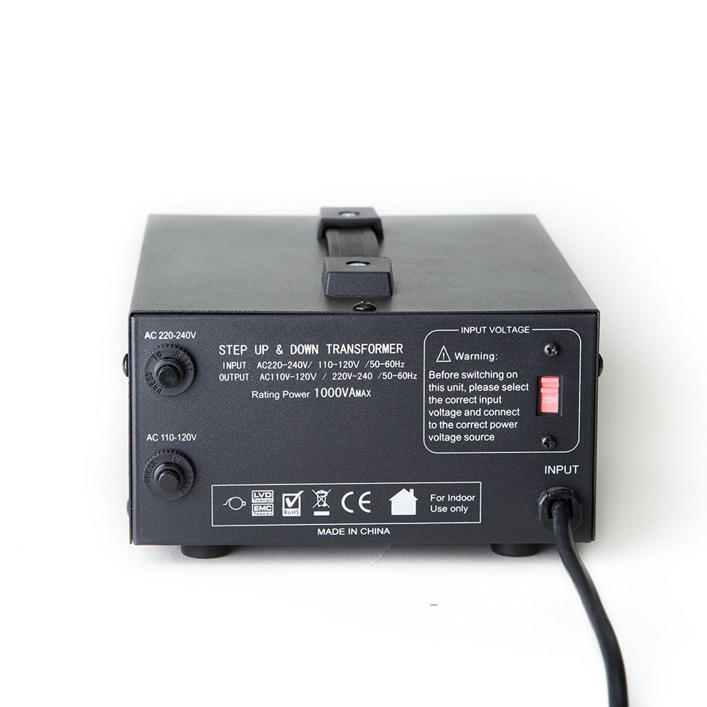 ELC 1500 Watt Voltage Converter Transformer - Dual Circuit Breaker Protection - Popularelectronics.com