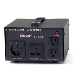 LiteFuze LT-1000 1000 Watt Smart Voltage Converter Transformer - Popularelectronics.com