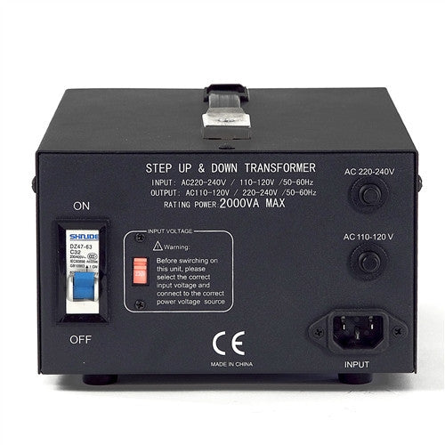 LiteFuze LT-2000 2000 Watt Smart Voltage Converter Transformer - Popularelectronics.com