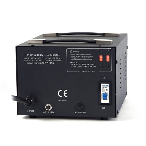 LiteFuze LT-5000 5000 Watt Smart Voltage Converter Transformer - Popularelectronics.com