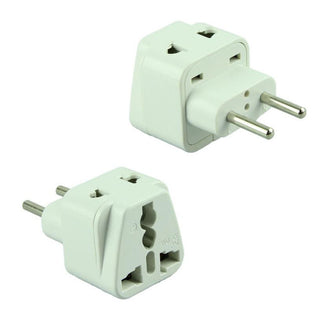 Universal Grounded Travel Plug Adapter For Europe (Type C) - Popularelectronics.com