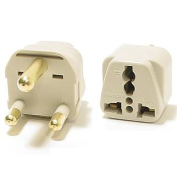 Universal Grounded Travel Plug Adapter For South Africa (Type M)