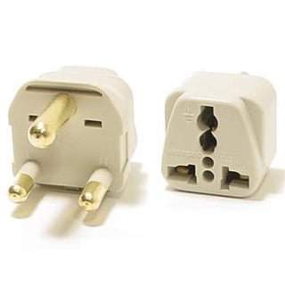 Universal Grounded Travel Plug Adapter For South Africa (Type M) - Popularelectronics.com