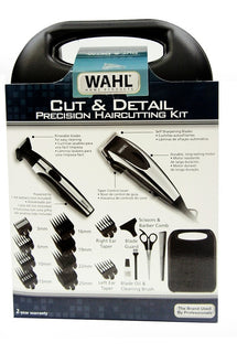 WAHL 9243-6208 CUT+ DETAIL HAIRCUT KIT - 18PC Hair Cutting Kit