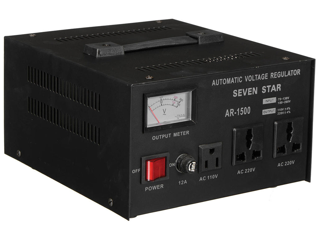 Seven Star AR-1500 1500 Watt Voltage Transformer Converter Regulator - Popularelectronics.com