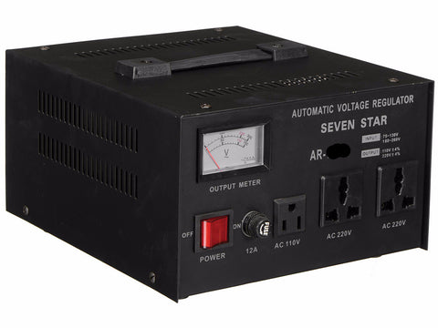 Seven Star AR-3000 3000 Watt Voltage Transformer Converter Regulator - Popularelectronics.com