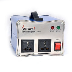 LiteFuze convertingbox 1000 Watt Voltage Converter Transformer - Circuit Breaker - Lifetime Warranty - Popularelectronics.com
