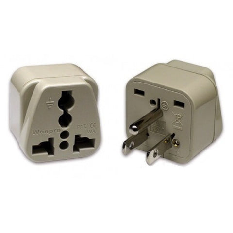 Universal Grounded Travel Plug Adapter For America and Japan (Type B) - Popularelectronics.com