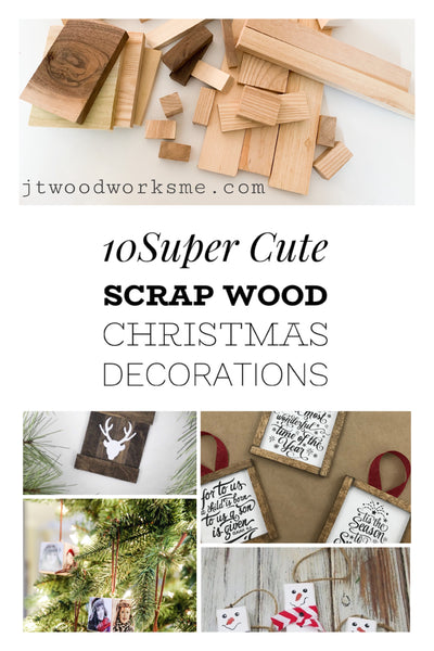 10 Super Cute Scrap Wood Christmas Decorations
