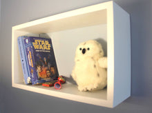 JTWoodworks wood cube shelf helps you organize your home. White, wood, painted cube shelf organizer.