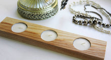 JTWoodworks - set the mood with tealight holder, oak wood shelf candle holder, tealight home decor.