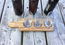 Shop JTWoodworks: beer sampling paddle, beer tasting flight. Handcrafted in Maine.