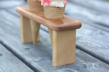 Wooden Ice Cream Cone Serving Tray - Two Servings