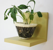 JTWoodworks small green shelf; wood shelf for your home or office.