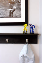 "Three Hook Coat Rack with Shelf - 20"" Wood Stain"