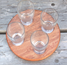 Round Beverage Sampling Flight - Sapele