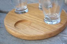 JTWoodworks - Engraved tasting round oak flight board; whiskey, beer, tequila, birthday party, groomsman gift