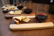 Beverage Sampling Board & Snack Tray with Stemless Glass