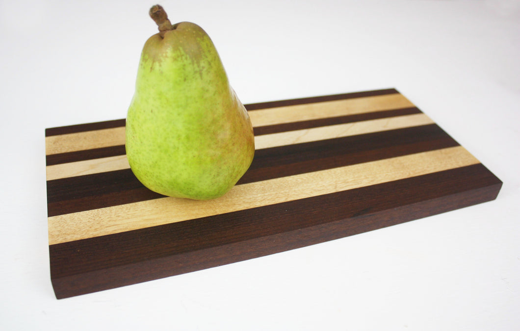 Cutting Board - Serving Tray - Walnut with Maple Accent