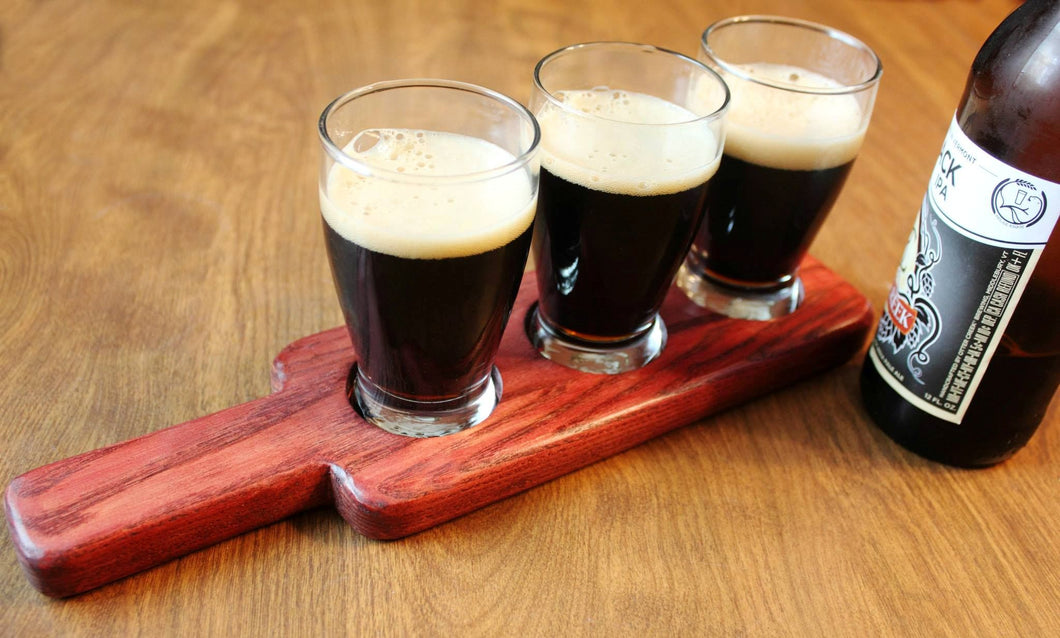 Beverage Flight and Serving Paddle