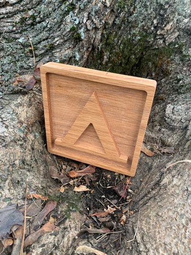 Small handmade wood sign for National Park Symbol for hiking